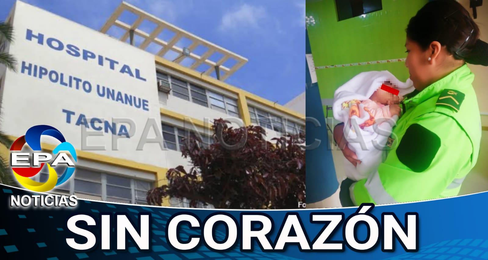 Tacna. Madre abandona a su bebé en hospital
