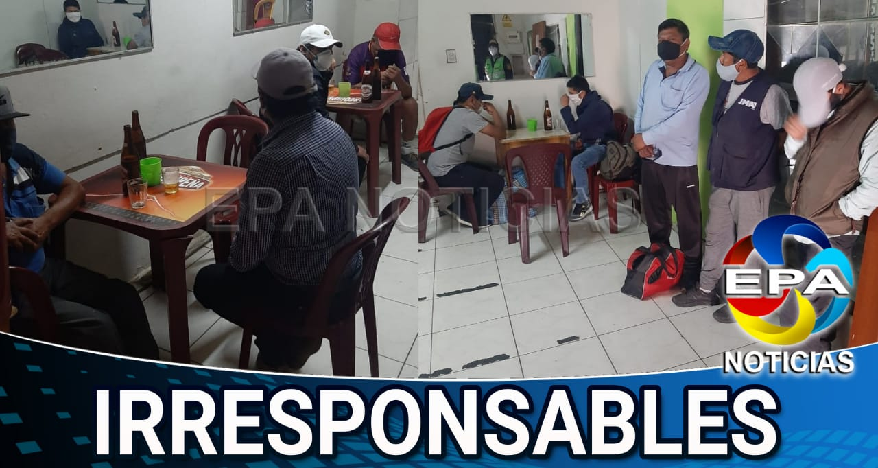 Arequipa. Varones irresponsables tomaban licor con damas de compañía en cuarentena