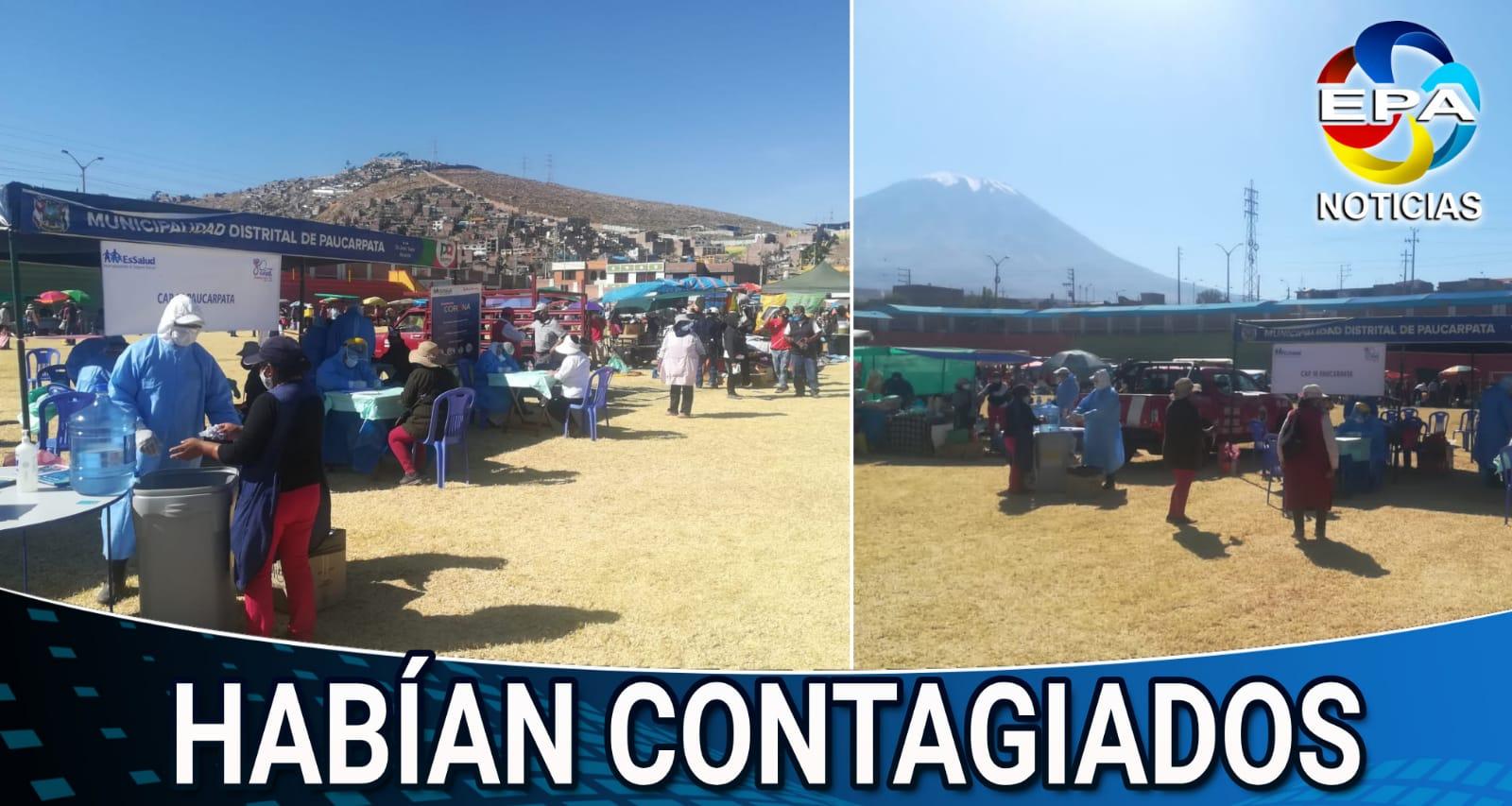 Arequipa. Detectan casos positivos en feria itinerante