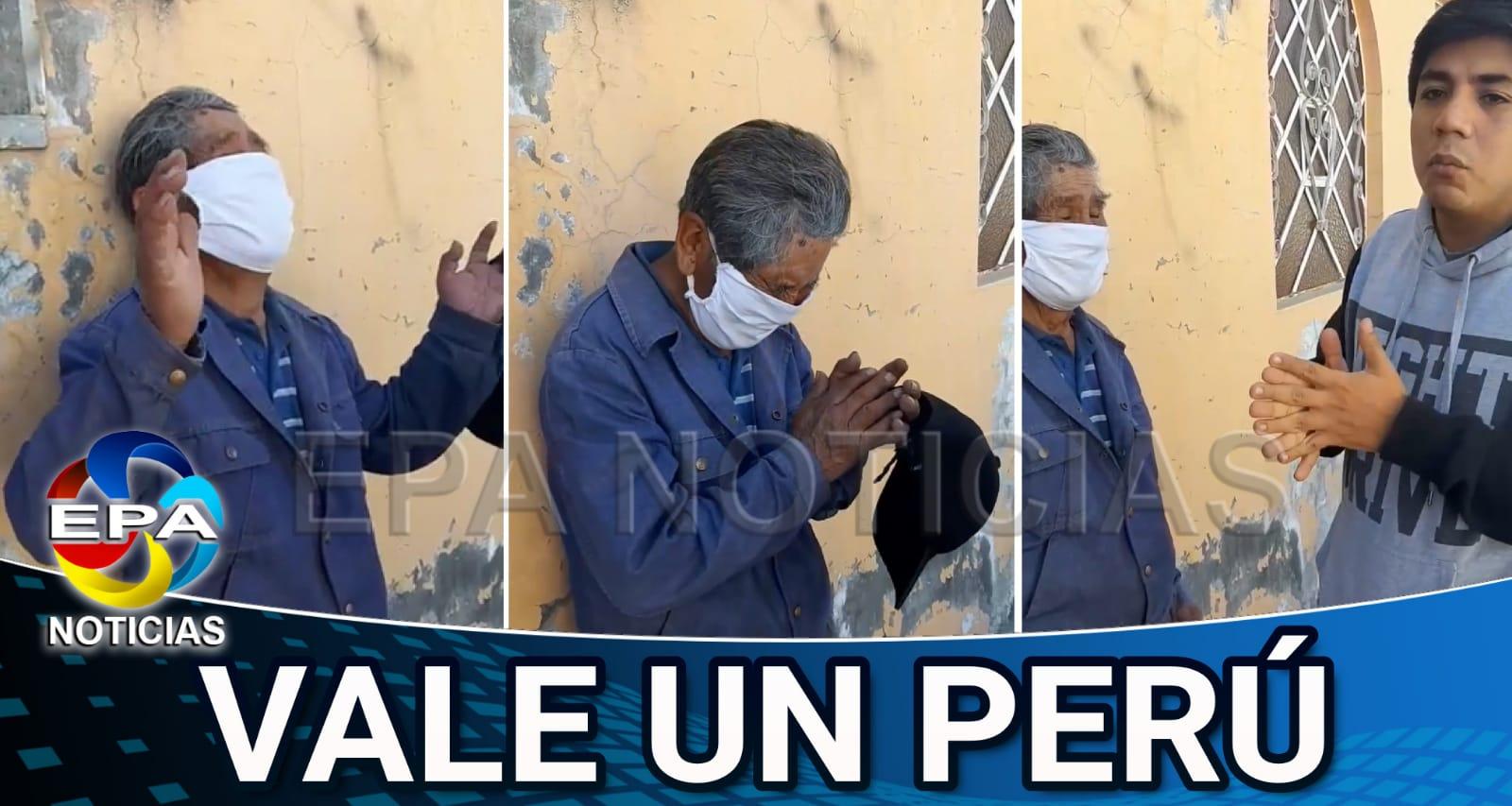 Arequipa. Joven reunió dinero para anciano que fue estafado con su bono