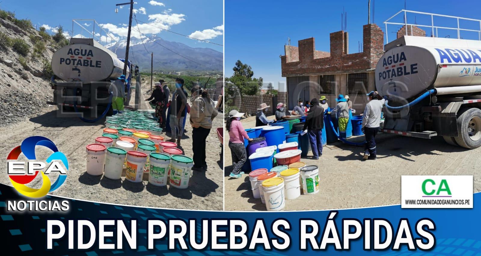 Arequipa. Pobladores sin agua para lavarse las manos y hacer frente al Coronavirus
